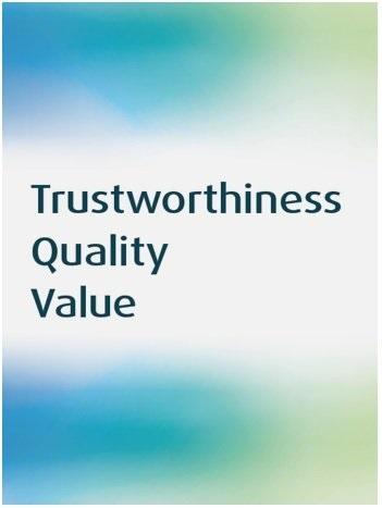Trustworthiness Quality Value tagline